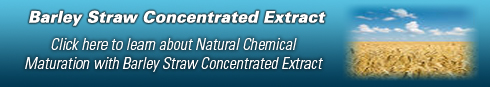 Learn about Natural Chemical Maturation with Barley Straw Concentrated Extract